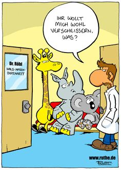 Ralph Ruthe: Patienten beim HNO Arzt