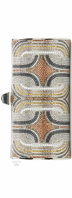 Judith Leiber Couture Crystal Swirls Violin Clutch Bag