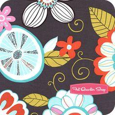 Sorbet Gray Tweet Birdie Tweet Yardage  SKU# CX5469-GRAY-D   Sorbet by Michael Miller Fabrics