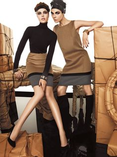 Frida Gustavsson & Kinga Rajzak by Giampaolo Sgura for Max Mara Studio Fall 2011 Campaign #fashion - Oi vey, Frida. How I love you.