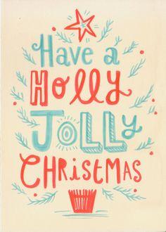 Christmas Cards by Linzie Hunter, via Behance