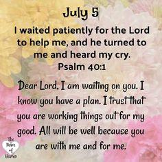 prayer of patience Prayer Verses, Faith Prayer, God Prayer, Bible Verses Quotes, Psalms Quotes, Bible Scriptures, Faith Quotes, Daily Scripture, Daily Devotional