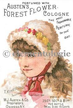 Vintage Perfume Label Image No. 04793 , Printable Digital Image File - elementologie, Vintage Market And Design