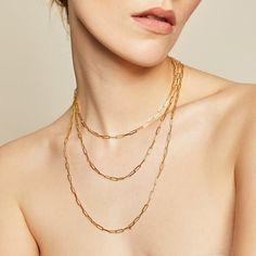 Capri Necklace – BYCHARI 14k Gold Jewelry, Diamond Jewelry, Fine Jewelry, Be Perfect, Capri, Gold Necklace, Chain, Glitters, Plugs