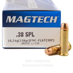 Magtech 38 Special Ammo - 1000 Rounds of 158 Grain FMC Ammunition  #Magtech #MagtechAmmo #38Specialammo #FMC