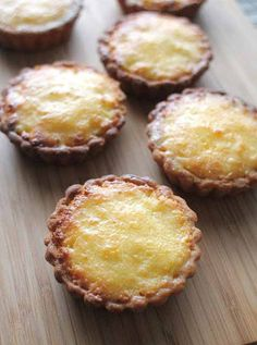 Ingredients:  Filling:  1 coconut (grated) 1/2 can condensed milk 1/2 nutmeg grated 2 tbsp vanilla essence 2 tsp sugar  Pastry: 2 cups flour 1/2 lb shortening Cold water  Method : Combine flour,shortening and crumble Add water a little at a time to make dough. Grease muffin tin and lin…