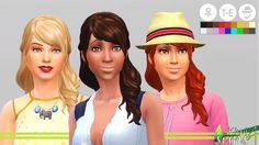 The Sims 4   KIWISIMS4 Sideswept Bangs edit of Luxury Party Stuff hairstyle   basegame compatible hairs for female adult
