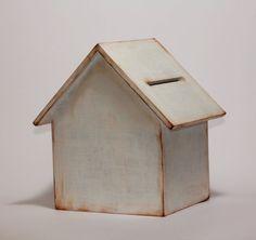 Wooden House money box piggybox. Home decor. Vintage by Xmarynka, $19.00