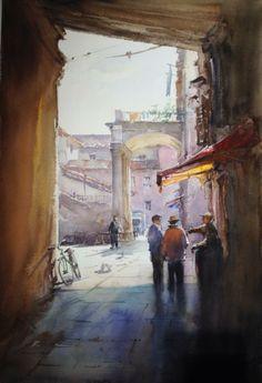 Igor Sava  Barcellona 38x56 watercolor