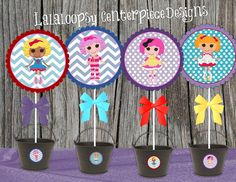 Lalaloopsy Centerpiece and Image Designs, 20 images total, Editable, Instant Download DIY, Matching Party Decor Available.