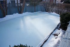 How to build an ice rink in your yard!