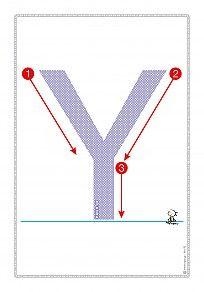 """Εκτύπωση φύλλου δραστηριότηρας με θέμα """"Πώς γράφεται το γράμμα Υ,υ"""". Worksheets, Banner, Symbols, Letters, Chart, Banner Stands, Letter, Literacy Centers, Lettering"""
