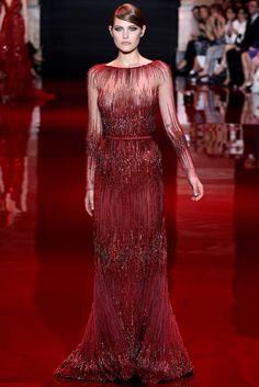 Elie Saab Fall 2013 Couture Fashion Show - Catherine McNeil (OUI)