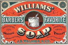 I'm really drawn to the vintage typeface and styling of this soap.