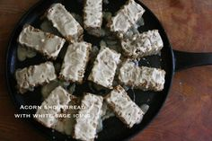 Acorn Shortbread with White Sage Icing // by Cauldrons + Crockpots