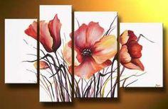 Diy Painting, Painting & Drawing, 3 Piece Canvas Art, Acrylic Art, Painting Inspiration, Flower Art, Watercolor Art, Modern Art, Art Projects