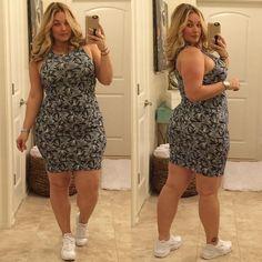 Plus size women mini dress 2016 zipper casual elegant sexy autumn slim short dresses Fashion Mode, Curvy Women Fashion, Fashion Outfits, Plus Fashion, Womens Fashion, Looks Plus Size, Look Plus, Plus Size Model, Plus Size Dresses