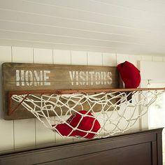 Sports Wall Organization - Horizontal Storage #potterybarnteen