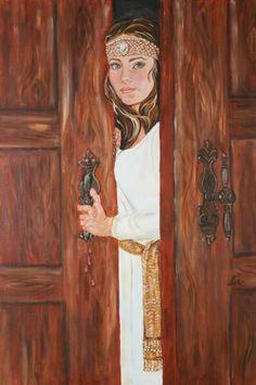 Beloved Art Gallery... Song of Solomon... Bride at the Door... (hands dripping with myrrh)