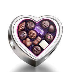Valentine's Day chocolates heart heart photo charm beads