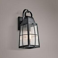 "Kichler Tolerand Seedy 17 3/4""H  Black Outdoor Wall Light"