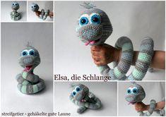 Handleiding haken - Crochet Pattern Elsa the Snake - Een uniek product van Streifgetier op DaWanda