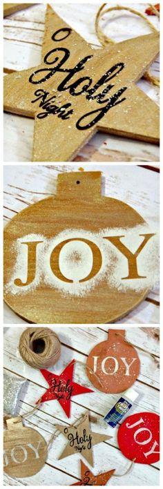 Handmade Wooden Christmas Ornament