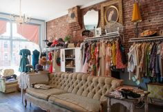 Concetta's Closet, a brick and mortar/Etsy shop. Vintage clothes in a vintage setting.