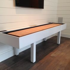 Table installed in customers pool house.  Custom design, construction, and finish by Robert Stein