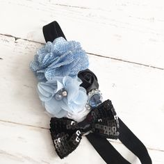 Blue white black headband-alice in wonderland inspired headband-halloween dress up headband by Goldfeatherboutique on Etsy https://www.etsy.com/listing/208302207/blue-white-black-headband-alice-in