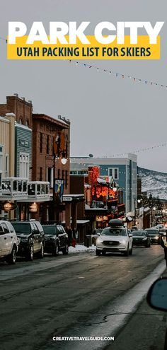 Utah is beautiful with amazing Park City Resorts Utah to choose from. But what to pack? We share the perfect packing list for your next trip. #Utah #USA #WinterUSA #WinterTravel #TravelUSA Packing Tips For Vacation, Packing Lists, Travel Packing, Vacation Places In Usa, Places To Travel, Travel Guides, Travel Tips, City Resort, Los Angeles Travel