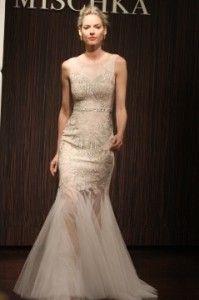 Badgely Mischka - Art Deco champagne Wedding Dress 2013