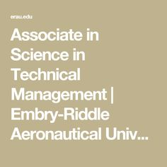 Associate in Science in Technical Management | Embry-Riddle Aeronautical University