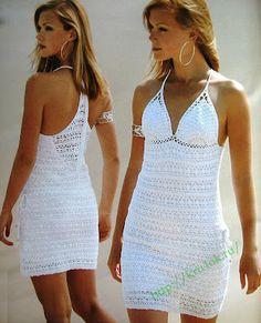 Dresses for the summer. - a post by verav in the Crochet community in the Women's Crochet category. Schemes and Description Crochet Summer Dresses, Crochet Skirts, Crochet Clothes, Lacy Dresses, Lingerie Crochet, Bikini Crochet, Mode Crochet, Knit Crochet, Crochet Chart