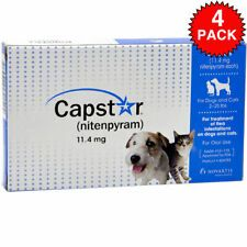 Capstar Nitenpyram For Dogs And Cats 2 25 Lbs 24 Tablets Four 6 Count Boxes Online Pet Supplies Dog Weight