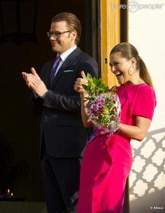 La princesse Victoria et le prince Daniel de Suède