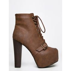 BRITNEY-17 BOOTIE (56 CAD) ❤ liked on Polyvore featuring shoes, boots, ankle booties, tan, chunky heel lace up boots, tan ankle booties, short lace up boots, short boots and tan lace up booties
