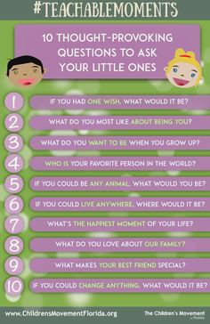 #TeachableMoments: Though-Provoking Questions To Ask Your Child