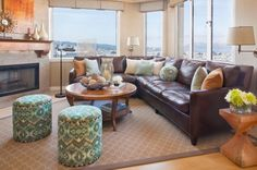 How to Decorate with Brown Leather Furniture?