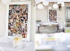 Cool idea for adult B-day party...collage of photos throughout the b-day person's life!!
