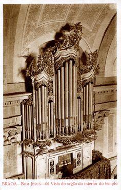 Braga, Santuário do Bom Jesus do Monte (Vista do órgão do interior do templo)