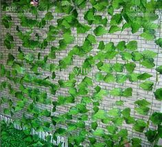 Artificial Green Climbing Vines of Grape Leaves