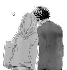 Image via We Heart It #boy #cute #girl #kawaii #kiss #love #manga #sweet #kou #shoujomanga #futaba #aoharuride #mangacap
