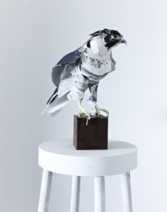 When Anna-Wili Highfield works in her light-filled studio in Sydney, the 31-year-old becomes a sort of hybrid between a taxidermist and a couture seamstress. Based at Stone Villa, the Federation-era terrace house she shares with other artists, Highfield produces exquisite, lifelike animal sculptures out of paper and thread.