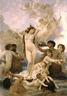 윌리앙 아돌프 부그로 (Adolphe William Bouguereau)의 비너스의 탄생(The Birth of Venus) / 1879년/ 오르세미술관 소장