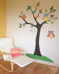 pictura-murala-copac-decorativ-cu-bufnita-in-camera-bebe3.jpg (720×911)