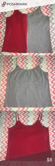 ESPRIT Camisole Tank Top - XL (2 Available) Thank you for taking the time to browse my shop, feel free to bundle & Negotiate through the Private Offer Section.  Size: XL  Brand: ESPRIT  Details: you may buy one or both, Camisole tank tops with built in support. Adjustable straps. Does run smaller. Shelf bra. PRICE IS FOR 1!  Color: gray/red  Condition: Good used   *Used items may contain piling &/or signs of wash and wear, they are sold AS Described.  Have a Wonderful Day. Thank you again…