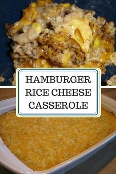 Hamburger Rice Cheese Casserole My family also loves it. It's an easy weeknight dinner and also freezes well. I often make a double batch and freeze one pan for later. Hamburger Rice Casserole, Hamburger And Rice Recipes, Ground Beef Casserole, Chicken Casserole, Paleo Dinner, Dinner Recipes, Restaurant Recipes, Meat Recipes, Cooking Recipes