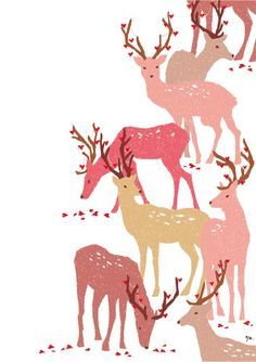 Christmas card _ Yayoi Kamiguchi illustration