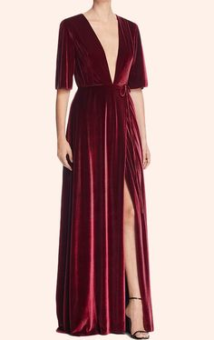 Deep V Neck Velvet Evening Gown Burgundy Formal Party Dress, Shop plus-sized prom dresses for curvy figures and plus-size party dresses. Ball gowns for prom in plus sizes and short plus-sized prom dresses for Velvet Evening Gown, Purple Evening Dress, Velvet Gown, Evening Dresses, Red Velvet, Purple Dress, Velvet Dress Formal, Formal Evening Gowns, Wrap Dress Formal
